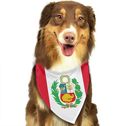Pet Scarf Flag of Peru Dog Bandana Collars Dog Bandana Bibs Head Scarf Accessories Ems Gps