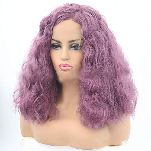 FMTMY Spitze vorne im Mais; warmes Haar, langes Haar, weich, kleines Volumen, Lavendel, Kurzhaar, gelockt, Haar, ()
