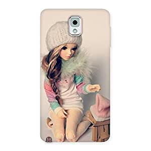 Enticing Cute Winter Doll Multicolor Back Case Cover for Galaxy Note 3