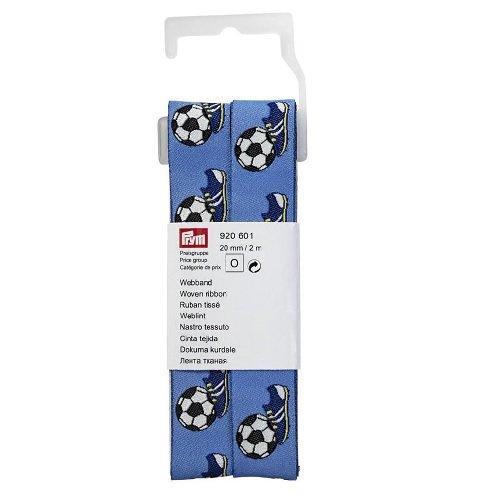 Prym Woven Fußball/Schuhe 20mm, Polyester, blau, 12,5x 4,5x 3cm -