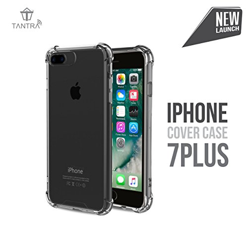 Tantra Multipurpose Protective Cover Case with Transparent Soft Gel Back Flexible TPU Gel Bumper for Apple iPhone 7 Plus