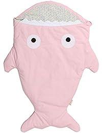 Sacco a pelo neonato, Lemonda bambino sacco a pelo cotone a forma di squalo, morbido e comodo, coperta per divano e letto, sacco a pelo pesce per Passeggino