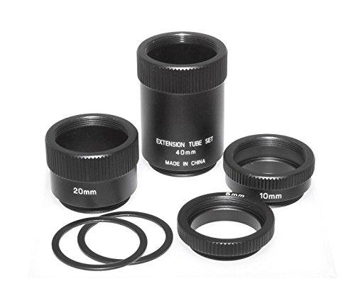TS-Optics C-Mount Adapter Zwischenring Set - 6 Teilig - zur Aufnahme von C-Mount Objektiven an CS-Mount Kameras, 1796N Cs-mount-adapter