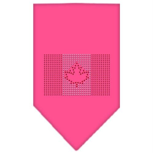 Mirage Pet Products Kanadische Flagge Strass Bandana, groß, hell pink