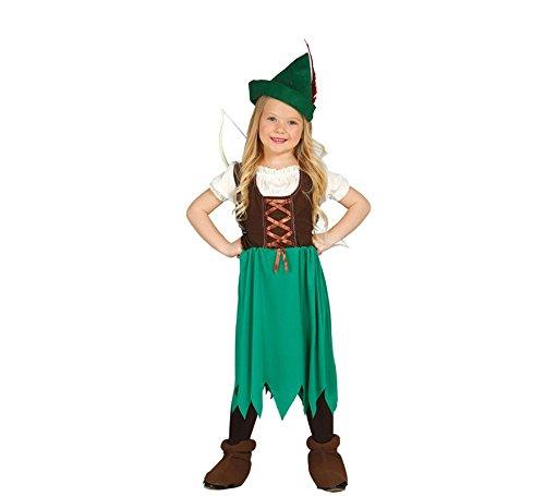 Bogenschütze Kostüm für Mädchen Gr. 98 - 134, Größe:110/116 (Roter Pfeil Kostüm Mädchen)