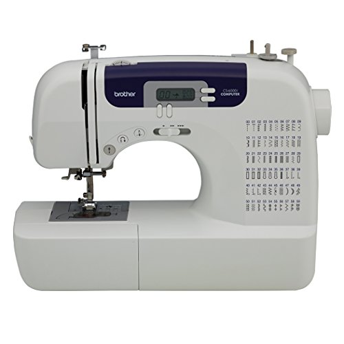 Brother Feature-Rich Sewing Machine With 60 Built-In Stitches,7 styles of 1-Step Auto-Size Buttonholes, Quilting Table, and Hard Cover - CS6000i (White)