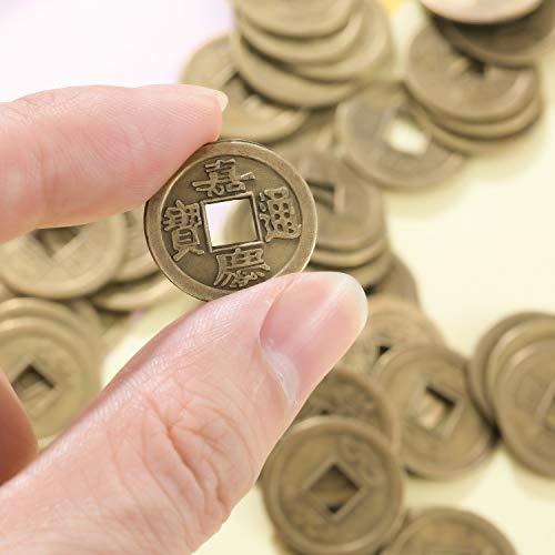 453fe2638d Boao 200 Pezzi Monete Cinesi di Feng Shui I-Ching Moneta Fortuna Moneta per  Porta Salute e Ricchezza, 2 Taglia