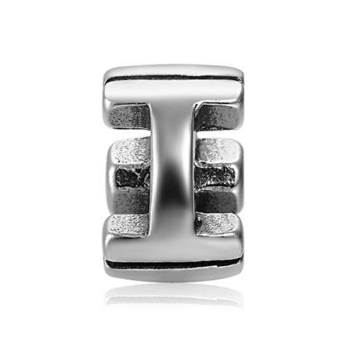Soufeel 925 Argent Nouveau Style De Alphabet Charm Lettre à Compatible Européen Bracelets Pour Charms Colliers Bracelets I Charm