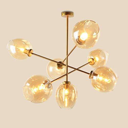 BCX Kronleuchter - die Moderne Beleuchtung der Metall-Anhänger der Beleuchtung Hängeleuchte Kronleuchter - S auf der Decke bis 7 ist offensichtlich, Gold Finish Befestigung Innenbeleuchtung Flush,GOL -