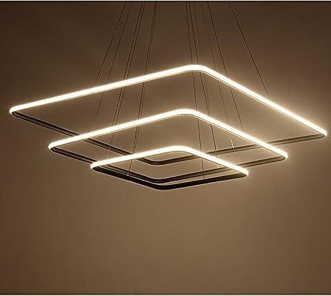 Saint Mossi Design exclusif Carré moderne Led Lustre Suspension réglable Lumière Tania Trio Collection Plafonnier contemporain plafond Luminaire bureau, salle à manger, chambre à coucher, Salon H47