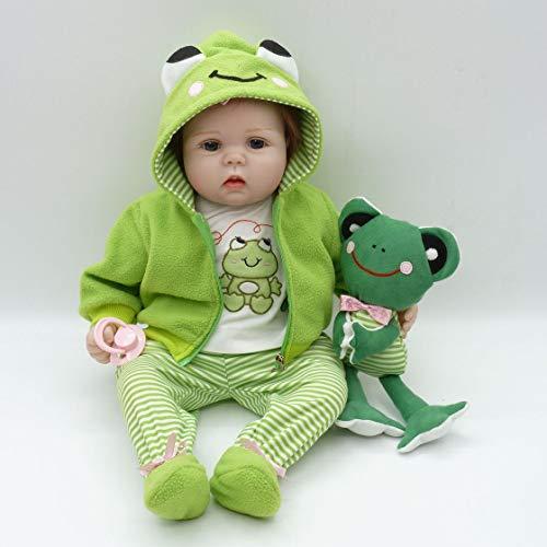 Bebé Reborn con ropita verde, de encanto