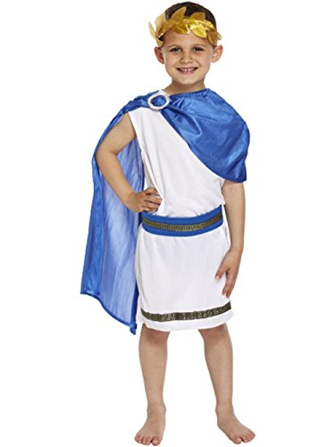 Kids Boys Roman Emperor Majesty Toga Caesar Greek Childs Fancy Dress Costume Outfit World Book Day/Week (10-12 years) by Henbrandt