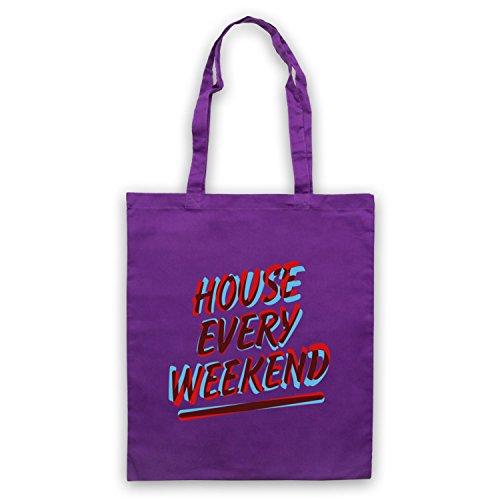 House Every Weekend House Music Umhangetaschen Violett