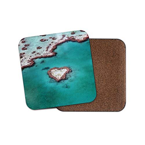 Heart Reef Australia Untersetzer - Great Barrier Reef Fun Ocean Cool Gift #13151 Heart Reef