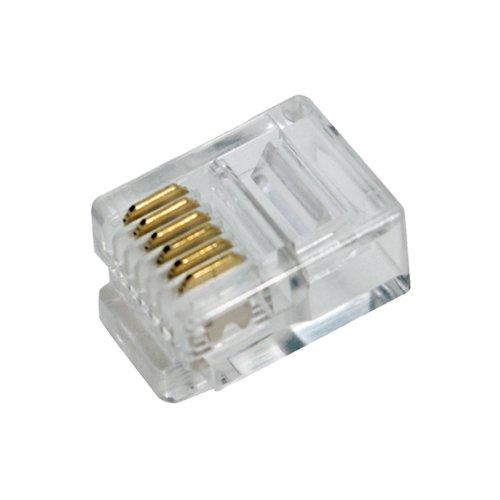 LogiLink RJ45 - Conector para cable Ethernet (RJ-45), transparente