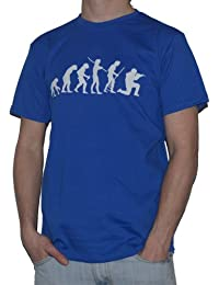 Ape to Soldier Funny Evolution of Man T-Shirt Mens