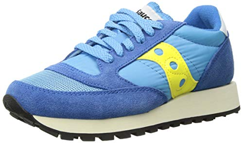 Saucony Damen Jazz Original Vintage Sneaker, Blau (Blue/Yellow 62), 38 EU (Sneakers Saucony-womens)