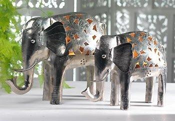 India soporte para vela de elefante tamaño grande