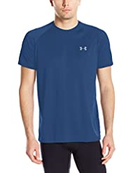 Under Armour Ua Tech Ss Tee Herren Fitness - T-shirts & Tanks, Schwarz (Blackout Navy), Gr. L