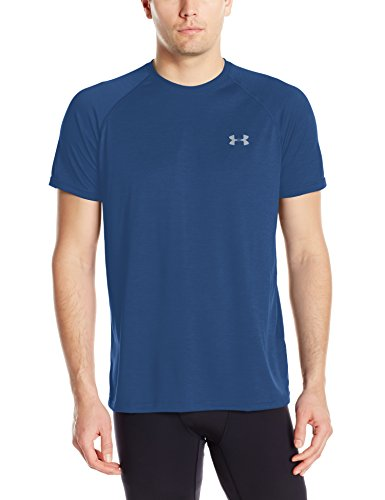 Navy Tee (Under Armour Ua Tech Ss Tee Herren Fitness - T-Shirts & Tanks, Blau (Blackout Navy), L)