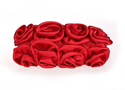 Aronvivi, Donne Clutch Nero Nero Taglia Unica Rosso (2)