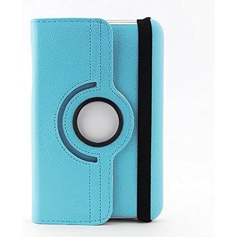 JAMMYLIZARD | Funda De Piel Giratoria 360 Grados Para Samsung Galaxy TAB 2 7.0 Flip Case, AZUL CIELO