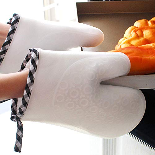 PZKSN Ofenhandschuhe 1 Stücke Stück Lebensmittelqualität Hitzebeständige Silikon Küche Grillhandschuh Kochen BBQ Grill Handschuh Hitzebeständige Handschuh rutschfeste (Baseball-handschuh-ofen-handschuh)