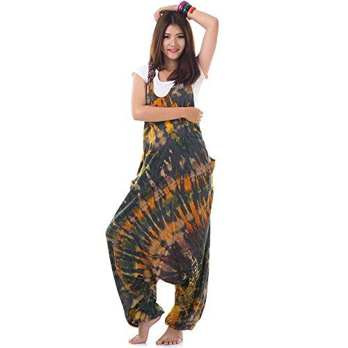 Hippie Batik Jumper Hose Haremshose Overall Baumwolle 38 -
