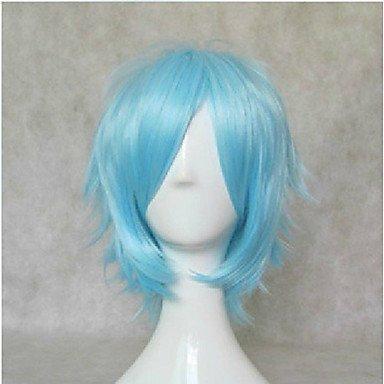 HJL-nouvelles bleu cosplay perruque synth¨¦tique perruques de cheveux courtes droites ¨¦l¨¦gantes perruques parti perruques anim¨¦e , blue