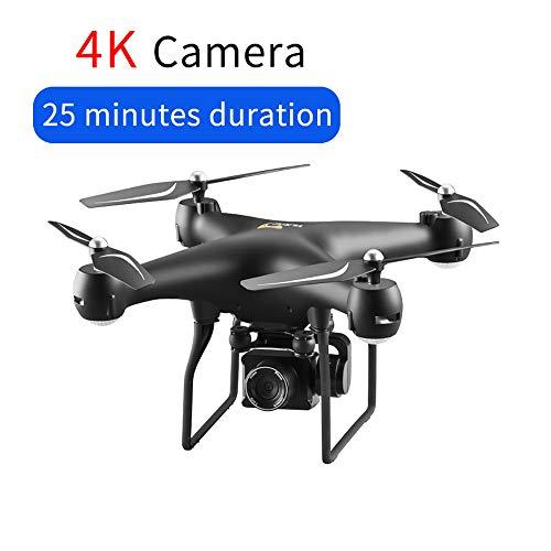 Drone FPV GPS RC con telecamera 4K HD PTZ, Quadcopter di controllo dell\'app Android WiFi Video con luci a LED, velivoli a controllo remoto 2.4G con modalità Altitude Hold e modalità Headless,Black