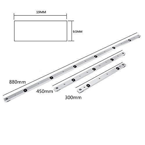 Pannow 300/450/850/880 mm barra inglete aleación