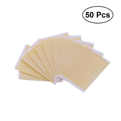 SUPVOX Abnehmen Patches Adhesive Navel Stick Fettverbrennung Abnehmen Slim Trim Patches Fit Halten Stressabbau Patch Pad 50 STÜCKE (Gelb) Pad Trim