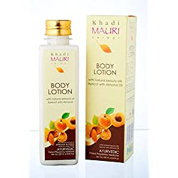KHADI Body Lotion- 250 ml - Rich Essential Oils for Skin Nourishment - Enriched with Apricot & Almond Oil