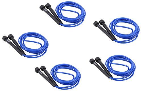 trenas Set: 5X Springseil, Speed Rope 3 Meter, blau