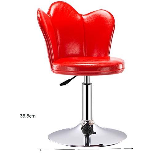 WEIYV-Sedie, sgabelli e tavoli,Sedia, Sedia da Bar Sedia Elevatore Sgabello Alto Tavolo E Sedia Sgabelli da Bar Moderno Sgabello Semplice Sgabello Alto (Colore : Short Red 38.5cm, Dimensioni : A)