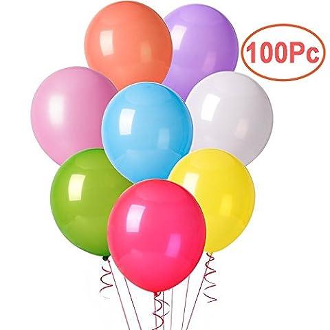 Cookey 100 Stücke Sortierte Farben Party Ballons für Hochzeits Geburtstagsfeier Fest - 30CM Latex