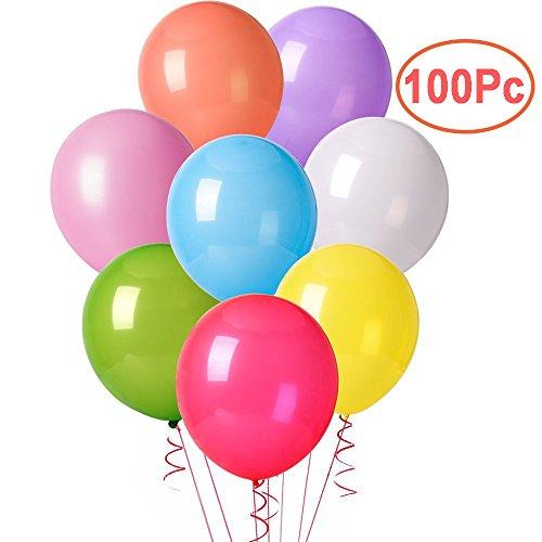 Cookey 100 Pz Palloncini Colorati per Party, Compleanni, Matrimoni, Decorazione - 30 cm Palloncini in Lattice