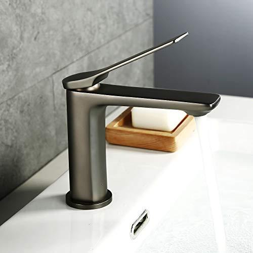 LONHEO Waschtischarmatur Waschbeckenarmatur Einhebelmischer Badezimmer Wasserhahn für Bad Waschbecken, Modernes Design (Retro)