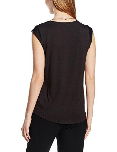 Comma 81.605.32.2975, T-Shirt Femme Noir (black 9999)