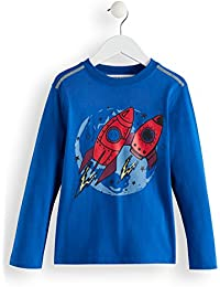 Marca Amazon - RED WAGON Camiseta de Algodón Manga Larga Niños