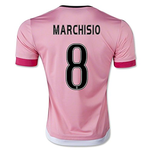 2016Figc Serie A JUVENTUS FC 8Claudio Marchisio Away Fußball Soccer Jersey in pink Medium Rosa - rose