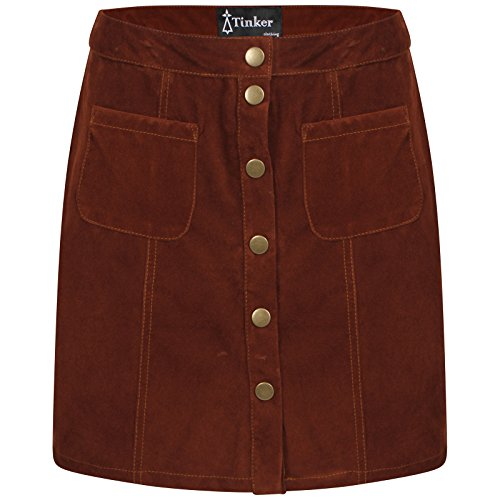 Ladies Suede effect A-Line Skirt 6 to 18 Suedette (14) for sale  Delivered anywhere in UK
