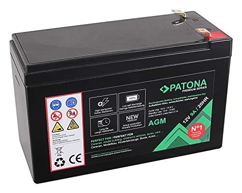 Batteria al piombo Patona Premium AGM 12 V 9 Ah VRLA senza manutenzione, 1800