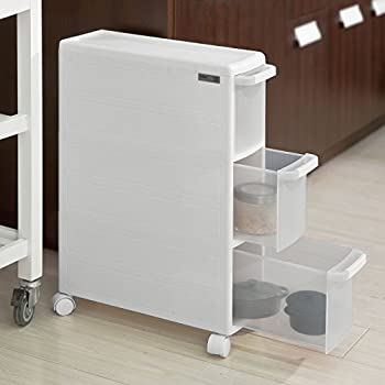 SoBuy® FRG41-K-W, 3 Drawers Plastic Storage Drawer Unit on ...