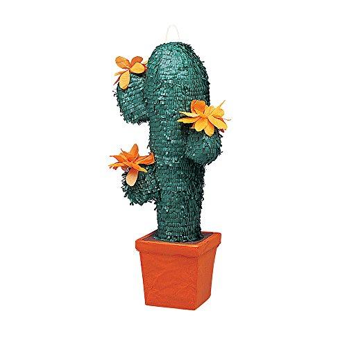 Pinata Kaktus / Kaktee 64 cm für KINDERGEBURTSTAG Spiele NEU
