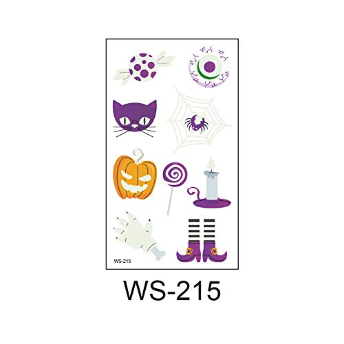 3Pcs-Environmental Halloween Kinder Nachtlicht Tattoo Aufkleber Party Party Atmosphäre Lustige Requisiten Tattoo Aufkleber 3Pcs-1