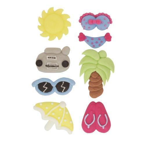 Kava Dolce - Sommer Zuckerfiguren | essbar | Bikini, Sonnenbrille, Sonne,Palme, Flipflops, Radio