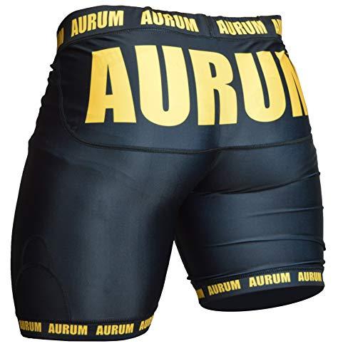 Aurum Pants for Champs Herren Kompressionshose kurz atmungsaktiv Fitness Funktionswäsche Kampfsport Laufhose(M)