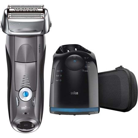 Braun Series 7 790cc Men's Electric Foil Shaver Rechargeable and Cordless Razor with Clean & Charge Station