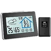 Stazione Meteorologica, Termometro Digitale con Schermo LCD, Termometro Temperatura Interno Esterno Wireless con Sensore Esterno